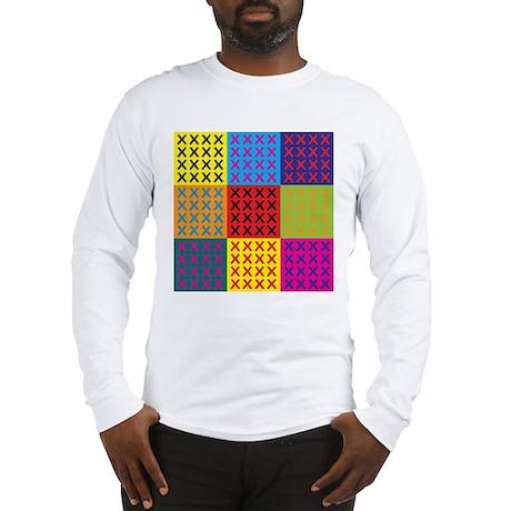Cross-stitching Pop Art Long Sleeve T-Shirt