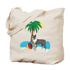 Beach Boston Terrier Tote Bag