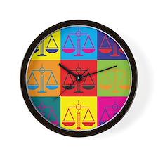 Criminal Justice Pop Art Wall Clock