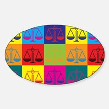 Criminal Justice Pop Art Oval Decal