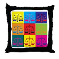Criminal Justice Pop Art Throw Pillow