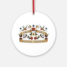 Live Love Dental Hygiene Ornament (Round)