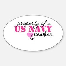 Property of a US NAVY Oval Decal