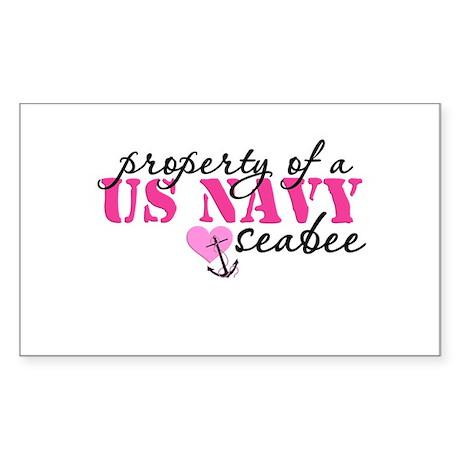 Property of a US NAVY Rectangle Sticker