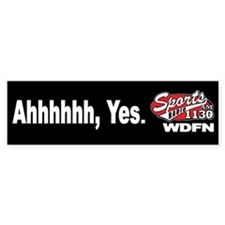 "WDFN ""Ah, Yes"" Black Bumper Sticker"