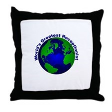 World's Greatest Receptionist Throw Pillow