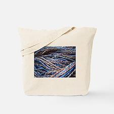 Blue Handspun Tote Bag