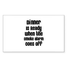 Dinner is Ready Rectangle Decal