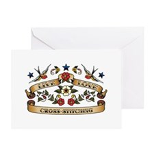 Live Love Cross-Stitching Greeting Card
