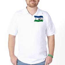 Wavy Lesotho Flag T-Shirt