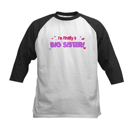 Finally big sister Kids Baseball Jersey