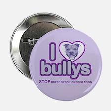 Purple Stafford I Love Bullys Button