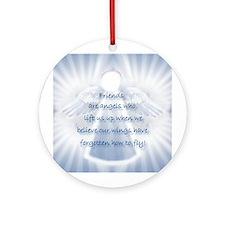Framed Angel Tiles, Tile Boxe Ornament (Round)