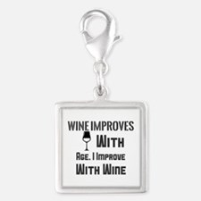 Wine Improves With Age. I Improve With Wine Charms