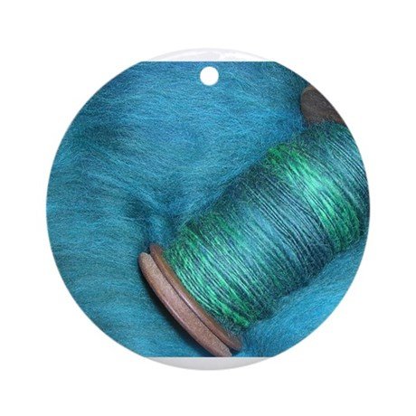 Blue Spinning Ornament (Round)