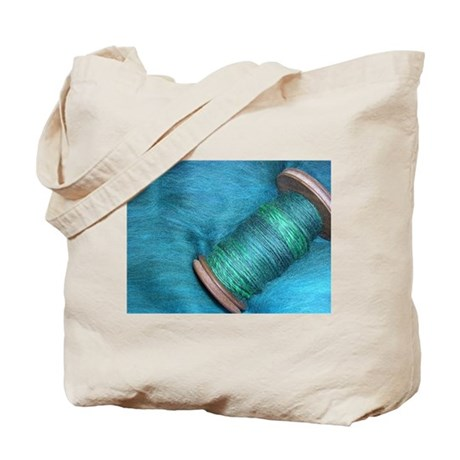 Blue Spinning Tote Bag