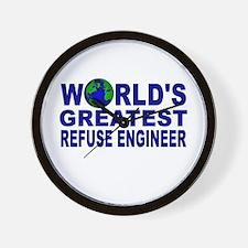World's Greatest Refuse Engin Wall Clock