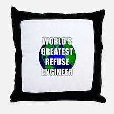 World's Greatest Refuse Engin Throw Pillow