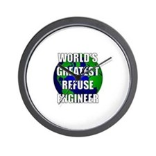 World's Greatest Refuse Engin Wall Clock