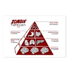 Zombie Food Pyramid Postcards (Package of 8)