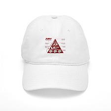 Zombie Food Pyramid Baseball Cap