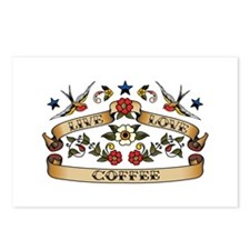 Live Love Coffee Postcards (Package of 8)