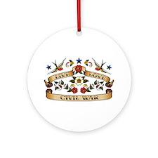 Live Love Civil War Ornament (Round)