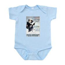 I Wish Navy Infant Bodysuit