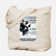I Wish Navy Tote Bag