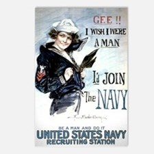 I Wish Navy Postcards (Package of 8)