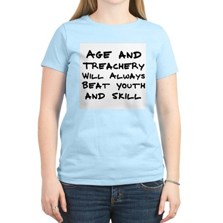 Age and Treachery Women's Pink T-Shirt