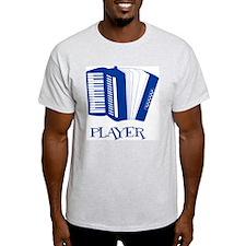 Player - accordian Ash Grey T-Shirt