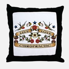Live Love Chiropractic Throw Pillow