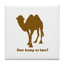 """""""One Hump or Two?"""" Tile Coaster"""