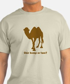 """One Hump or Two?"" T-Shirt"