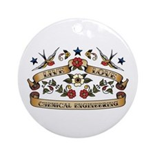 Live Love Chemical Engineering Ornament (Round)