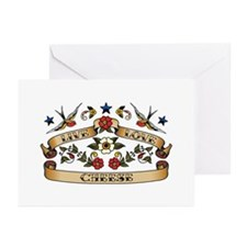 Live Love Cheese Greeting Cards (Pk of 20)