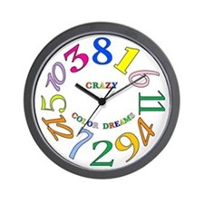 Cute Crazy hours Wall Clock