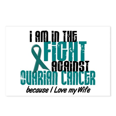 In The Fight Ovarian Cancer 1 (Wife) Postcards (Pa