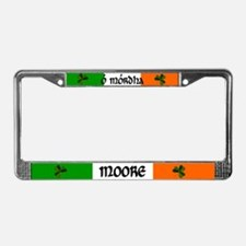 Moore in Irish & English License Plate Frame