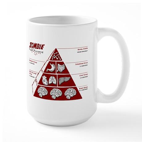 Zombie Food Pyramid Large Mug