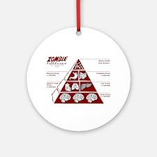 Zombie Food Pyramid Ornament (Round)