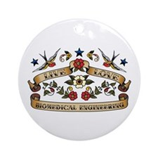Live Love Biomedical Engineering Ornament (Round)