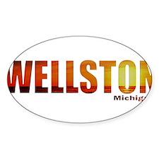 Wellston, Michigan Oval Decal