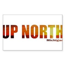 Up North, Michigan Rectangle Decal