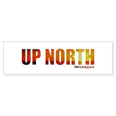 Up North, Michigan Bumper Sticker