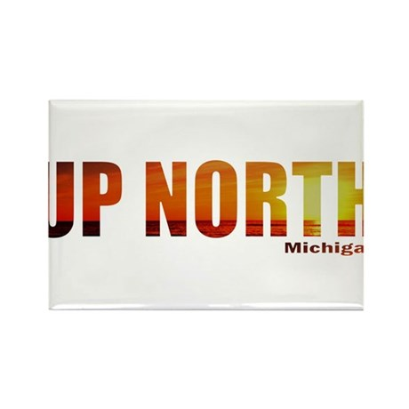 Up North, Michigan Rectangle Magnet (100 pack)