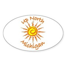 Up North, Michigan Oval Decal