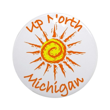 Up North, Michigan Ornament (Round)
