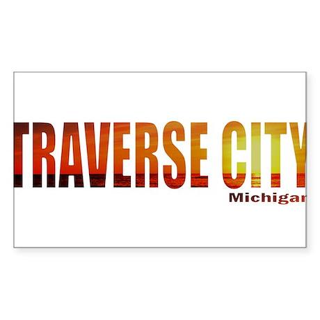 Traverse City, Michigan Rectangle Sticker